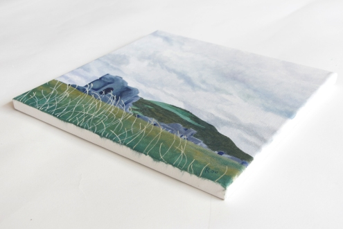 Hannah Rae Peterson | Aberystwyth Castle Ruins | Acrylic on Canvas