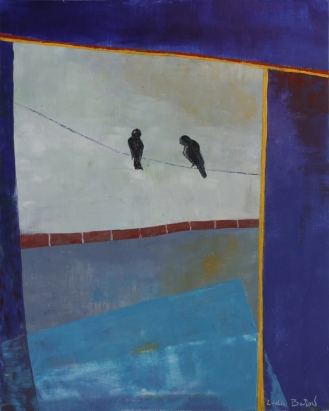 Linda Barlow | Corris Window | Oil and cold wax on canvas board