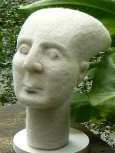 Selkie Woman. Merino & Shetland Wool, H55x27x27cm