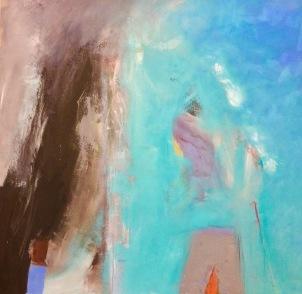 Vanessa Van Cuthbert, 200617 Abstract, Oil on board, 40cm x 40cm, £550 framed