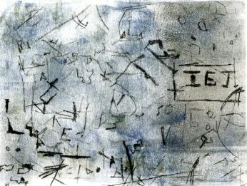 Artist: Alison Craig | Wales Residency period: 2016 Title: 'Corris Graffiti' Medium: Monoprint, etching Dimensions: 30cm x 25cm Price: £55