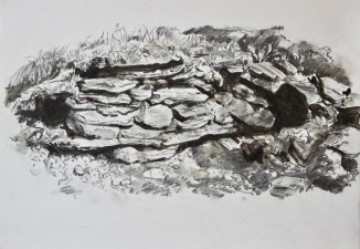 Artist: Chris Williams | England Residency period: 2019 Title: 'Untitled' Medium: Liquid charcoal on paper. Dimensions: 42cm x 30cm Price: £100