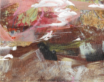 Artist: Maryanne Hawes | England Title: The Watchful Hills I, II, & III Medium: acrylic and mixed media Dimensions: 25.5cm x 20cm Price: £45