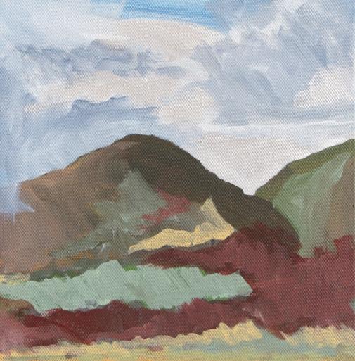 Artist: Paula Hallam | USA Title: Pen y Graig-Fawr Medium: acrylic on canvas Dimensions: 19.5 cm x 20cm Price: £80