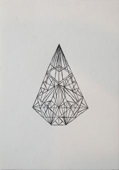 Artist: Trevor Tubelle | USA Title: Lunar Tee Pee Capsulre #11 (Traditional) Medium: Letterpress Dimensions: 18x25.5cm Edition No.: 25/25 Price: £75.00