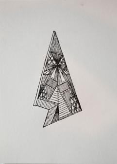 Artist: Trevor Tubelle | USA Title: Lunar Tee Pee Capsule #9 (Slice) Medium: Letterpress Dimensions: 18x25.5cm Edition No.: 23/25 Price: £75.00