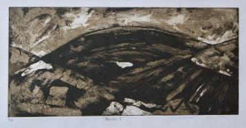 Artist: Emma Jayne Holmes | Wales Residency: 2018 Title: 'Burren I' Medium: Etching Dimensions: 41.5cm x 23cm Price: £55
