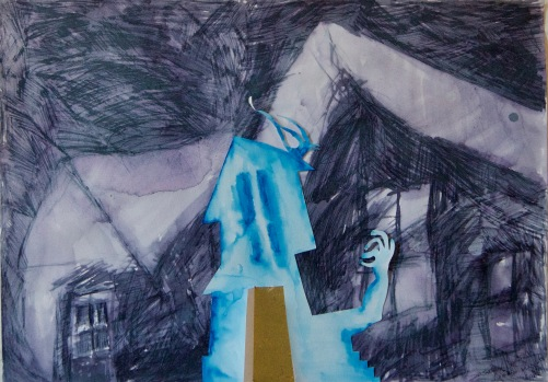 Artist: Susan Calza | USA Residency: 2018 Title: 'Untitled' Medium: Mixed Media on paper. Dimensions: 42 cm x 30cm Price: £50