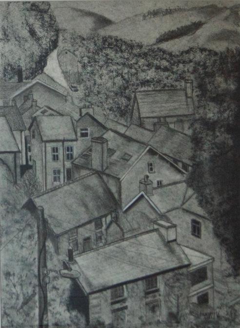 Artist: Linda Barlow | England Residency: 2017 Title: 'Corris' Medium: Charcoal on Paper Dimensions: 40cm x 53.5cm Price: £200
