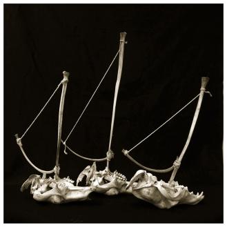 Artist: Sue Kneebone | Australia Title: Skull Boats Medium: Photograph on metallic paper (edition. 1/3) framed £300